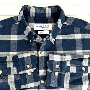 Mizzen + Main Men's L/S Trim Fit Flannel Shirt XL